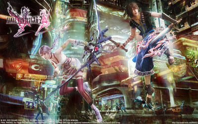 Serah and Noel - Final Fantasy XIII-2 wallpaper