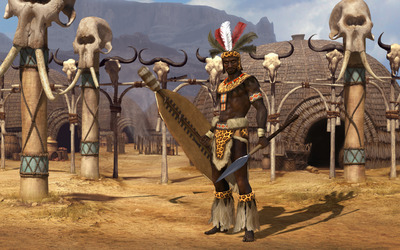 Shaka of the Zulus - Sid Meier's Civilization V wallpaper
