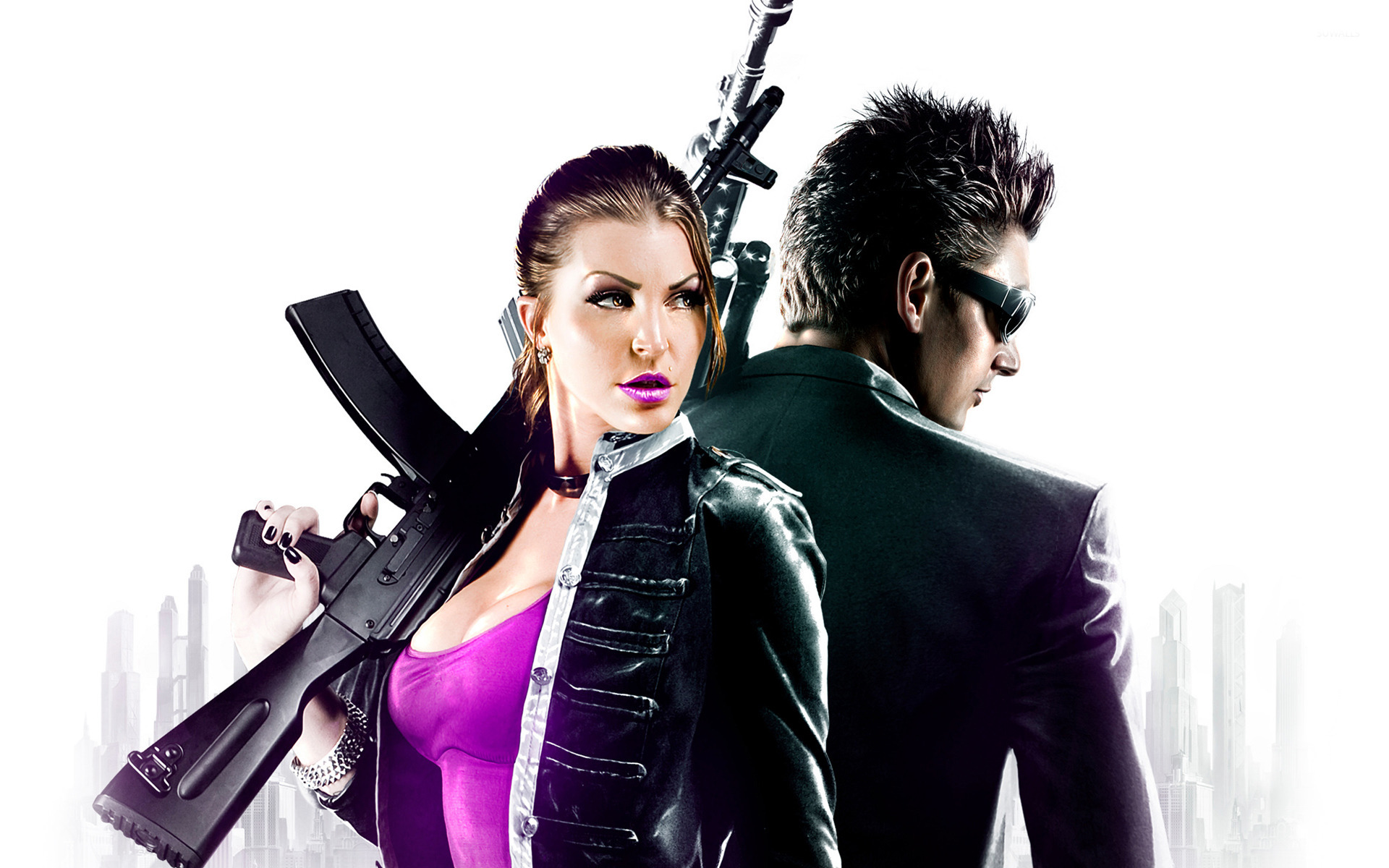 Shaundi And Johnny Gat Saints Row Iv Wallpaper Game