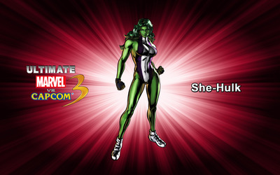 She-Hulk - Ultimate Marvel vs. Capcom 3 wallpaper