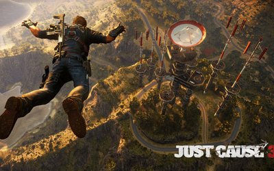Skydiving to the radar base - Just Cause 3 Wallpaper