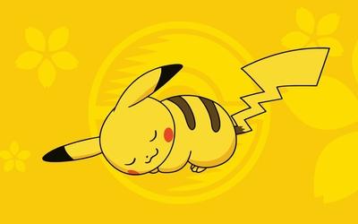 Sleeping Pikachu - Pokemon wallpaper