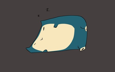 Snorlax sleeping - Pokemon wallpaper