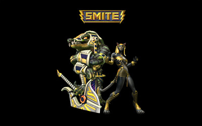 Sobek and Bastet  - Smite wallpaper