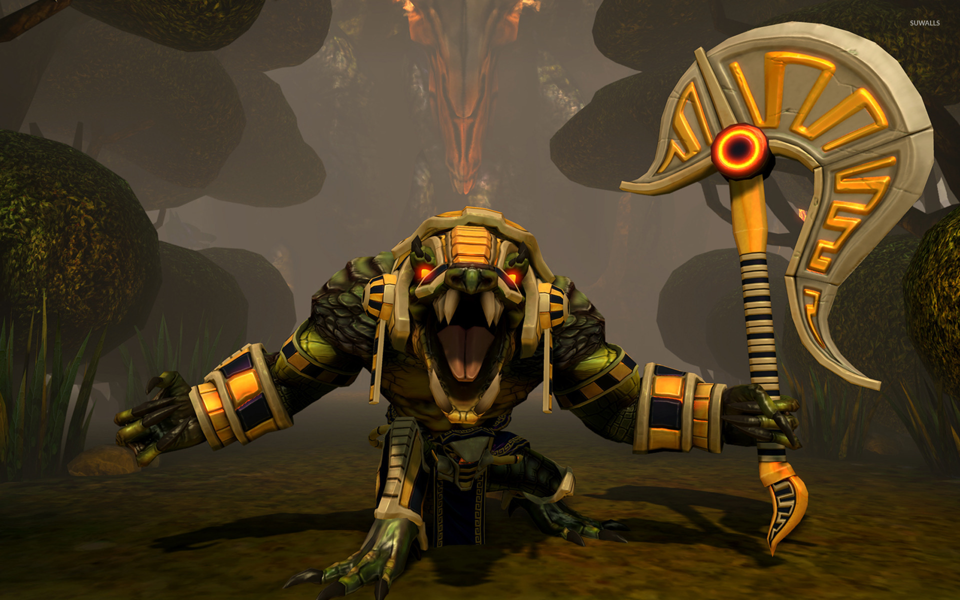 Screenshots Released for Smite's Newest God, Sobek - Curse