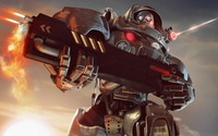 Space Marines fighting - StarCraft II wallpaper 1920x1080 jpg