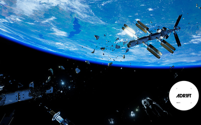 Space station after the explosion - ADR1FT wallpaper