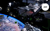 Space station torn apart - ADR1FT wallpaper 3840x2160 jpg