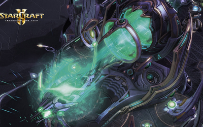 Spaceship launch in StarCraft II: Legacy of the Void wallpaper