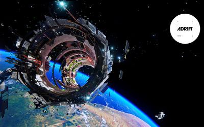 Spaceship werck in ADR1FT wallpaper