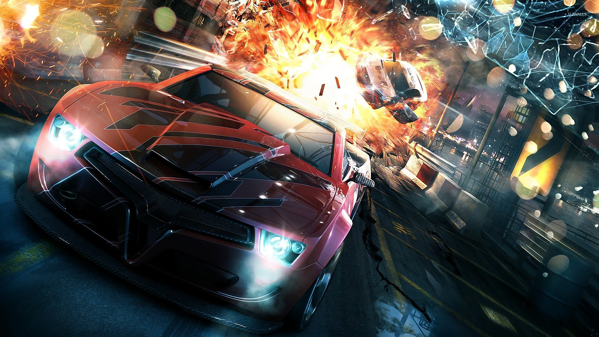 Car Gif Flip Explosion Video Game