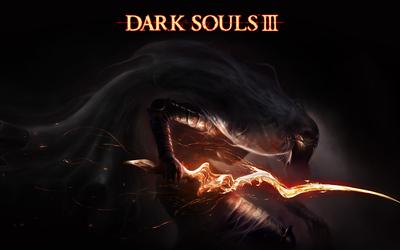Spooky creature in Dark Souls III wallpaper