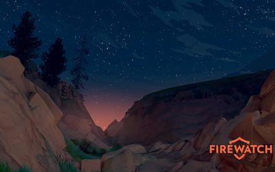 Starry night in Firewatch wallpaper