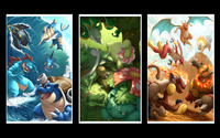 Starter Pokemon wallpaper 1920x1200 jpg