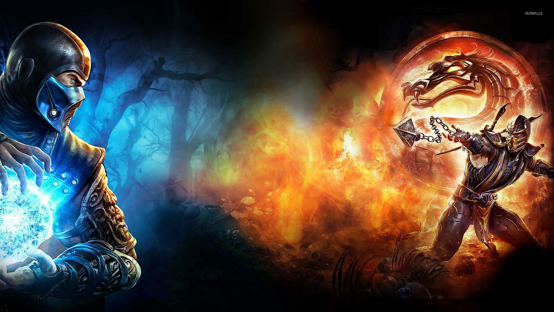 Sub Zero Vs Scorpion In Mortal Kombat X Wallpaper Game