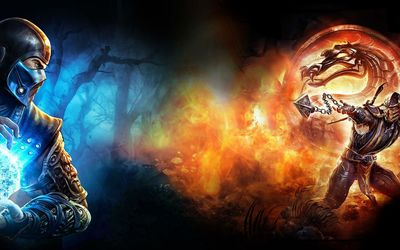 Sub-Zero vs Scorpion in Mortal Kombat X wallpaper