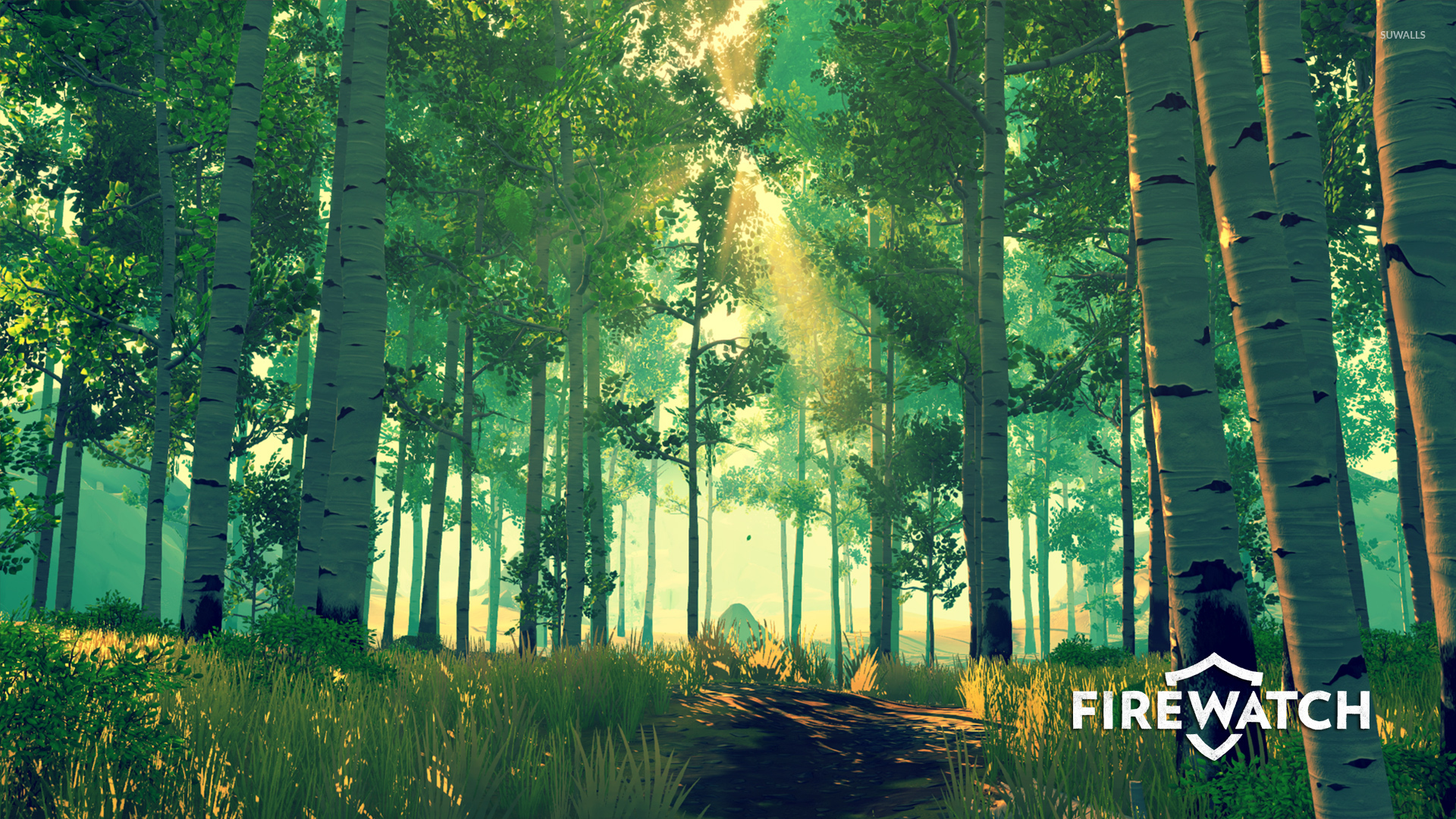 Sun Rays In The Green Forest In Firewatch Wallpaper Game
