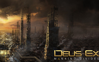 Sunset above the city in Deus Ex: Mankind Divided wallpaper 2560x1440 jpg