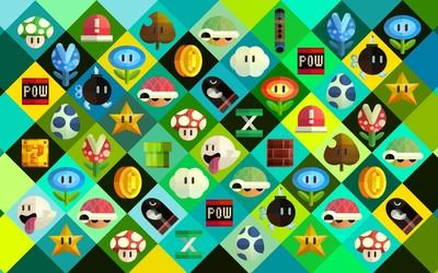Super Mario power-ups wallpaper