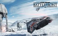 T-47 snowspeeder flying in Star Wars Battlefront wallpaper 3840x2160 jpg