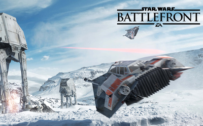 T-47 snowspeeder flying in Star Wars Battlefront wallpaper
