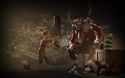 Team Fortress 2 Christmas wallpaper