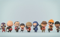 Team Fortress 2 miniature characters wallpaper 1920x1080 jpg