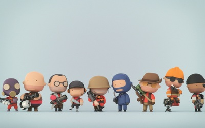Team Fortress 2 miniature characters wallpaper