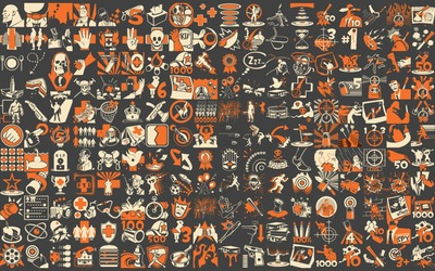Team Fortress 2 pattern wallpaper
