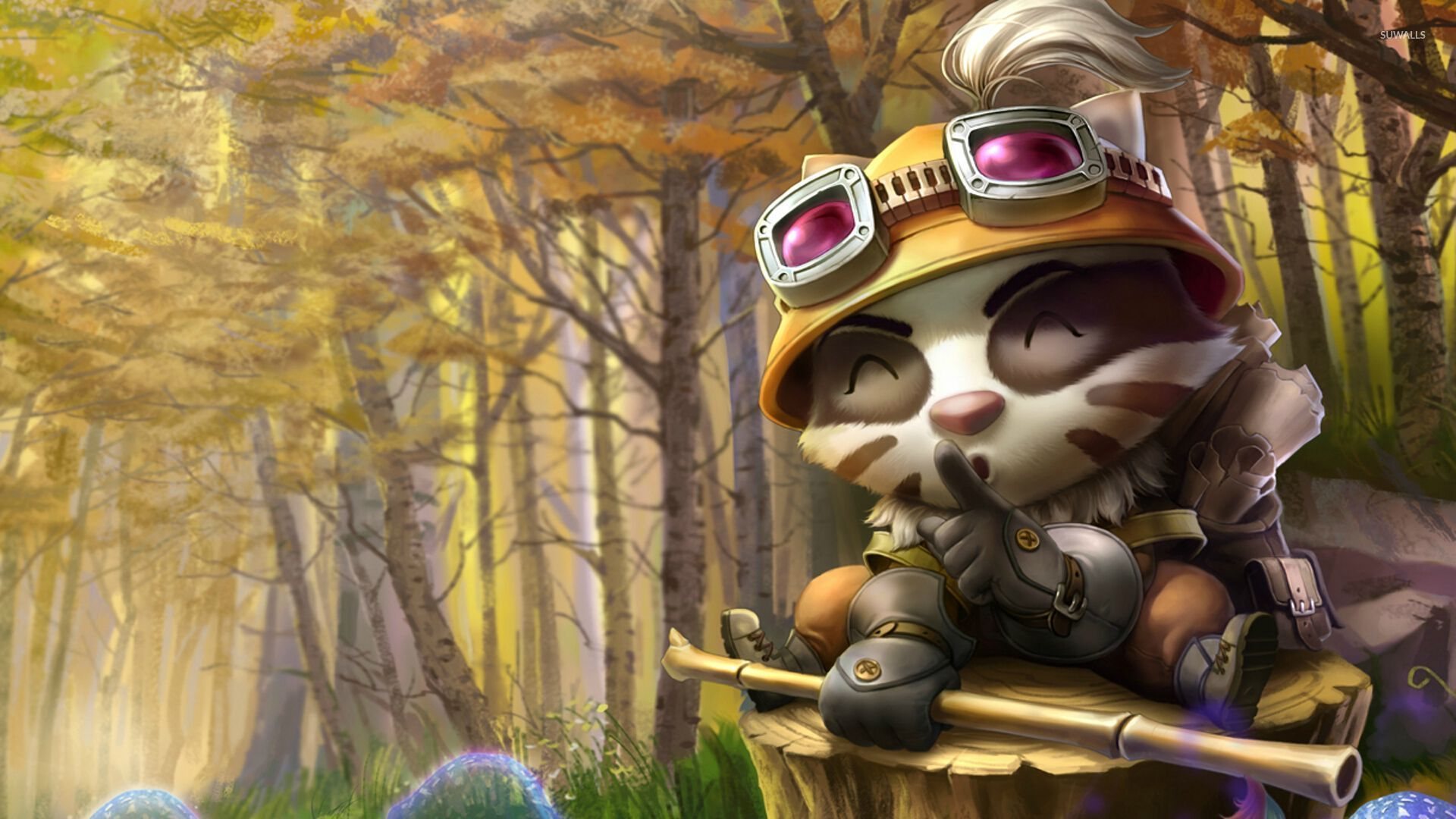 Teemo with a bamboo stick in League of Legends wallpaper ...