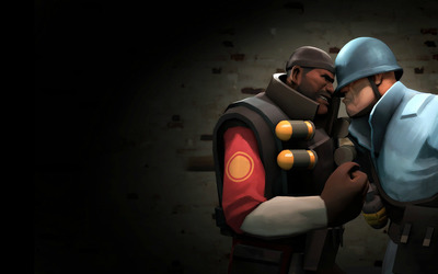 TF2 Demoman vs Soldier wallpaper