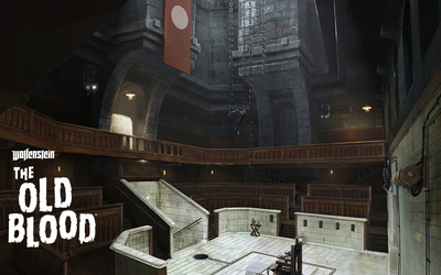 The execution chamber in Wolfenstein: The Old Blood wallpaper