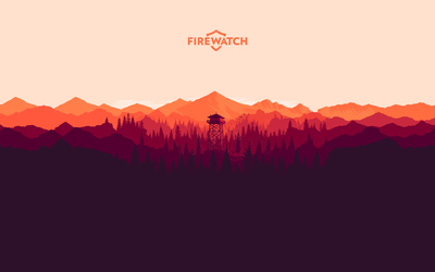 The forest in Firewatch wallpaper