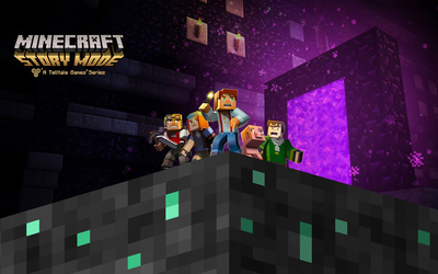 The Minecraft: Story Mode gang wallpaper