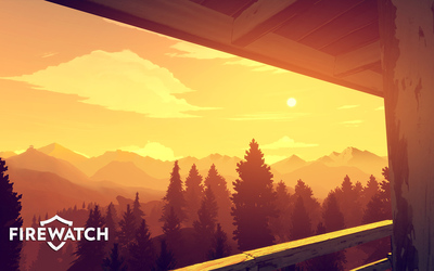 The view from the fire lookout tower in Firewatch wallpaper
