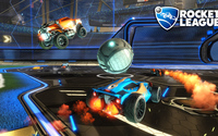 Three cars on the field in Rocket League wallpaper 1920x1080 jpg