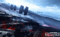 TIE Fighters over the volcanoes in Star Wars Battlefront wallpaper 1920x1080 jpg