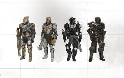 Titan armors - Destiny wallpaper