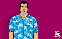 Tommy Vercetti with a blue hawaiian shirt wallpaper 2880x1800 jpg