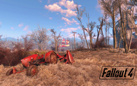 Tractor on the field in Fallout 4 wallpaper 1920x1080 jpg