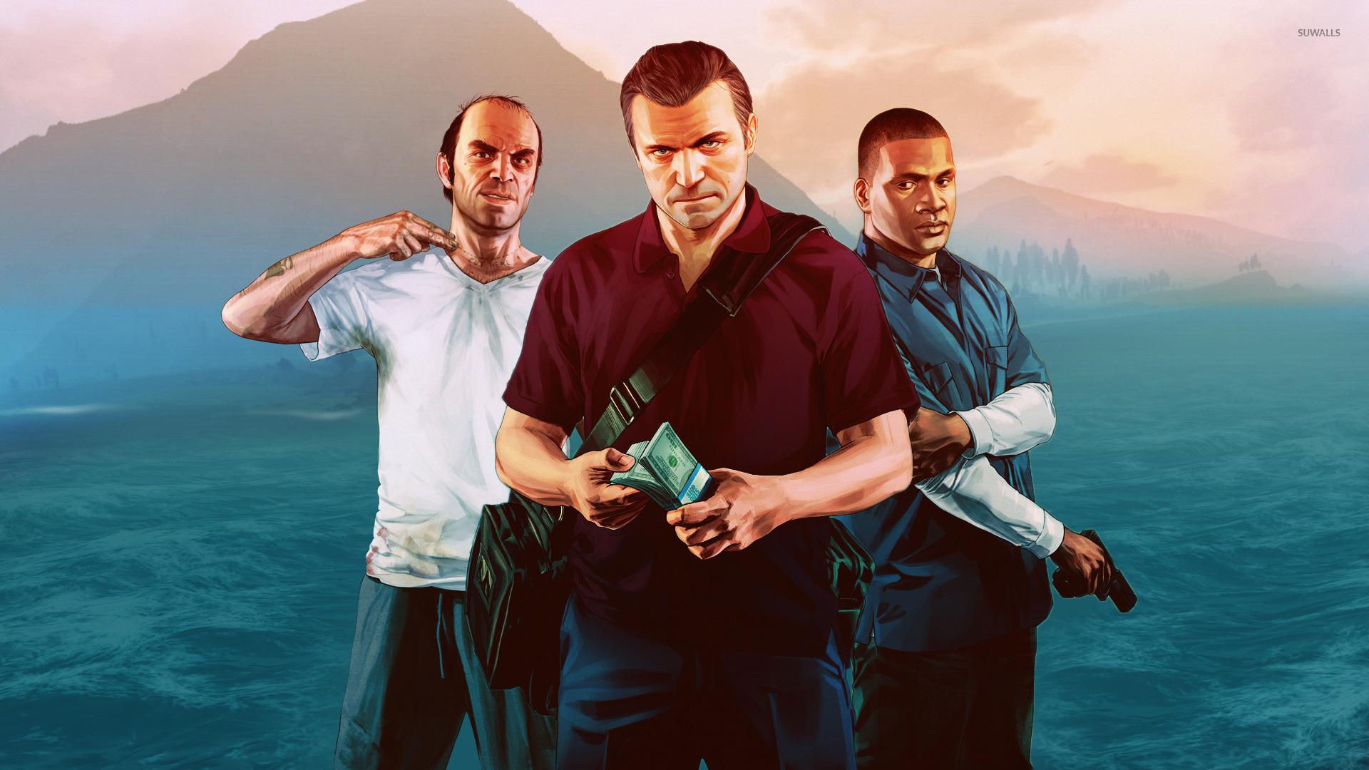 Trevor Michael And Franklin Grand Theft Auto V Wallpaper