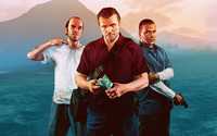 Trevor, Michael and Franklin - Grand Theft Auto V wallpaper 1920x1080 jpg