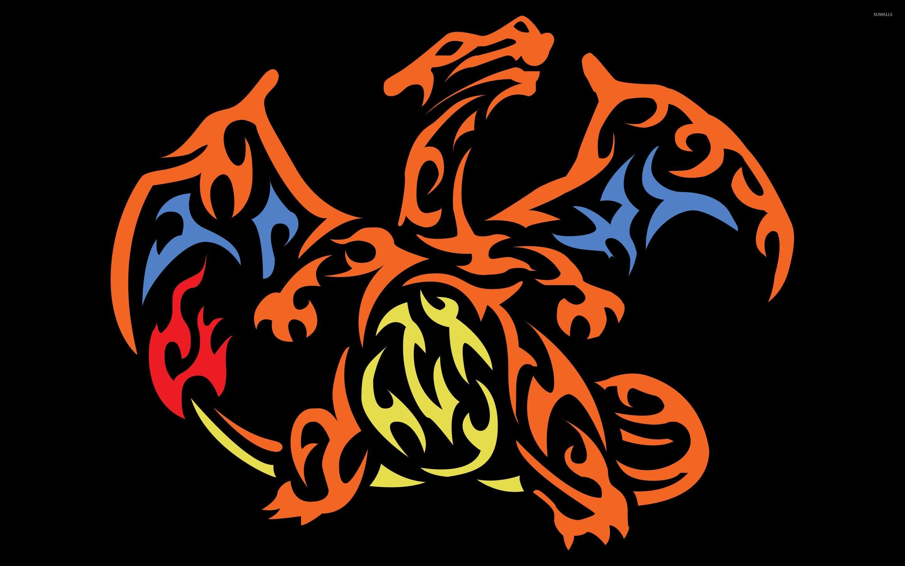 Wallpaper download pokemon - Tribal Charizard Pokemon Wallpaper