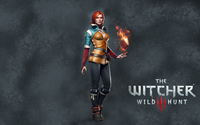 Triss Merigold with a book - The Witcher 3: Wild Hunt wallpaper 3840x2160 jpg