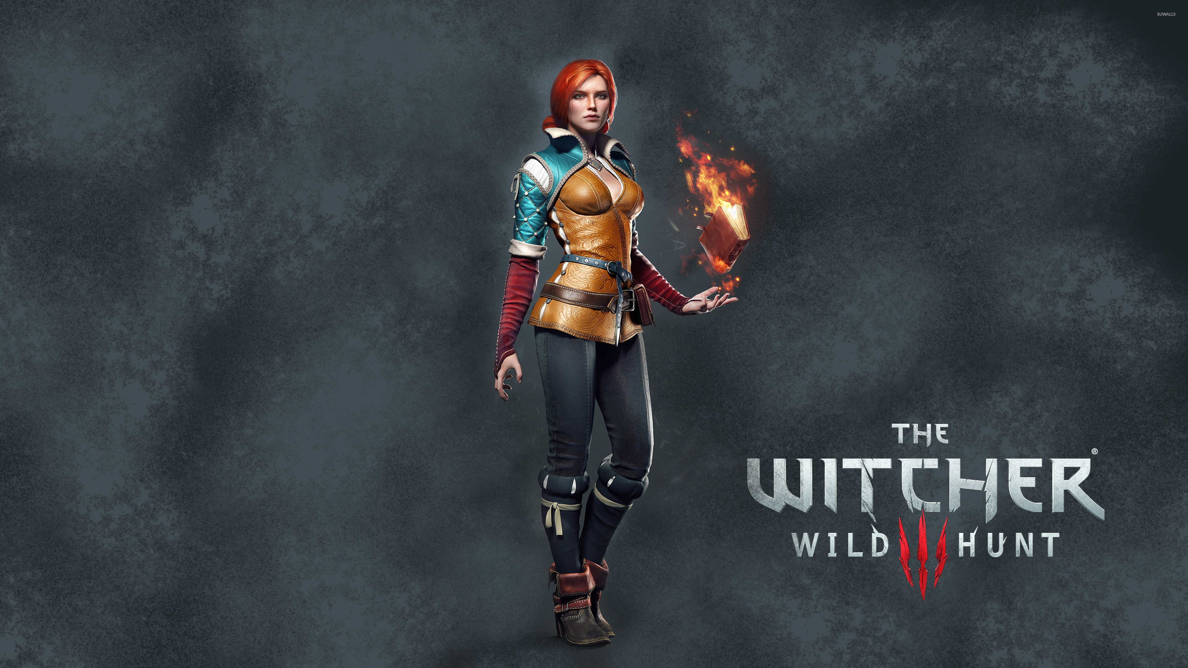 Triss Merigold With A Book The Witcher 3 Wild Hunt
