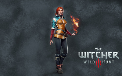 Triss Merigold with a book - The Witcher 3: Wild Hunt wallpaper