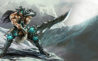 Tryndamere with a big sword - League of Legends wallpaper 1920x1080 jpg