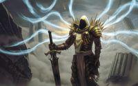 Tyrael with a golden sword - Diablo wallpaper 1920x1200 jpg