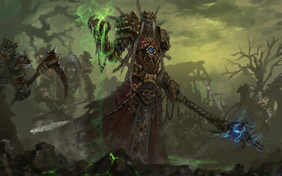 Undead warlock - World of Warcraft wallpaper