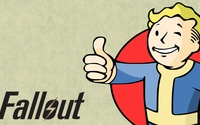 Vault Boy dressed in blue - Fallout wallpaper 1920x1080 jpg